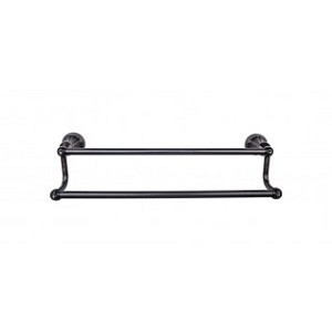 Top Knobs HUD9TB Hudson 24 inch Double Towel Bar - Tuscan Bronze