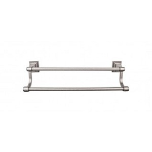 Top Knobs STK11AP Stratton 30 inch Double Towel Bar - Antique Bronze
