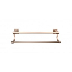 Top Knobs STK11BB Stratton 30 inch Double Towel Bar - Brushed Bronze