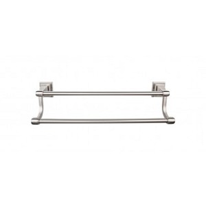 Top Knobs STK7BSN Stratton 18 inch Double Towel Bar - Brushed Satin Nickel