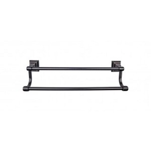 Top Knobs STK7TB Stratton 18 inch Double Towel Bar - Tuscan Bronze