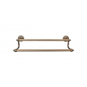 Top Knobs TUSC7GBZ Tuscany 18 inch Double Towel Bar - German Bronze