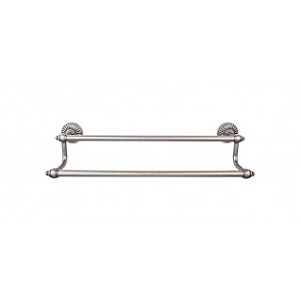 Top Knobs TUSC7PTA Tuscany 18 inch Double Towel Bar - Pewter Antique