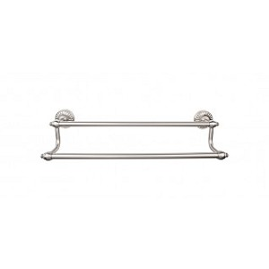 Top Knobs TUSC9BSN Tuscany 24 inch Double Towel Bar - Brushed Satin Nickel