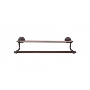 Top Knobs TUSC9ORB Tuscany 24 inch Double Towel Bar - Oil Rubbed Bronze