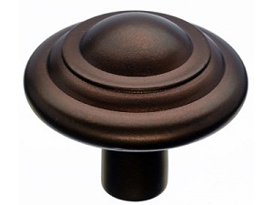 Top Knobs Aspen Button Knob - Mahogany Bronze