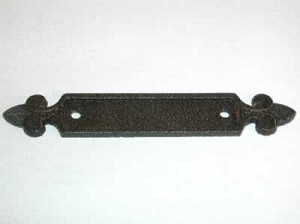 "Top Knobs Tuscany Dover 2 1/2"" CC Backplate - Rust"
