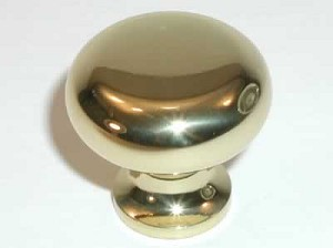 "Top Knobs Somerset Flat Faced 1 1/4"" Cabinet Knob - Polished Brass"