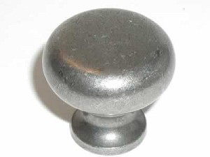 "Top Knobs Somerset Flat Faced 1 1/4"" Cabinet Knob - Antique Pewter"