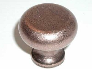 "Top Knobs Somerset Flat Faced 1 1/4"" Cabinet Knob - Antique Copper"