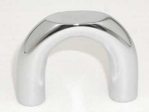 Top Knobs Nouveau II Cabinet Pull 1 1/4 Inch CC - Polished Chrome