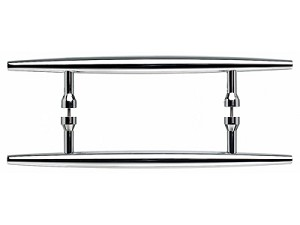 Top Knobs 18 Inch CC Appliance Handle Pair - Polished Chrome
