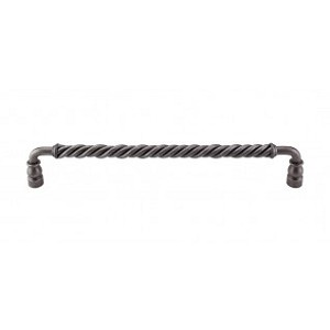 Top Knobs M676 Twisted Bar Pull 12 Inch (C-C)- Pewter