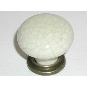 "Top Knobs Chateau 1 3/8"" Large Knob - German Bronze & Bone Crackle"