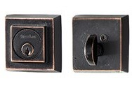 Sure-Loc Single Cylinder Rustic Square Deadbolt