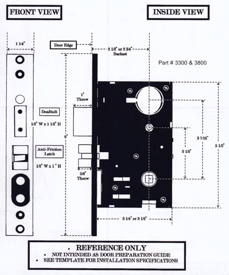Emtek Door Hardware Emtek Rectangular Mortise Sideplate