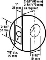 Schlage Commercial S Series Door Preparation