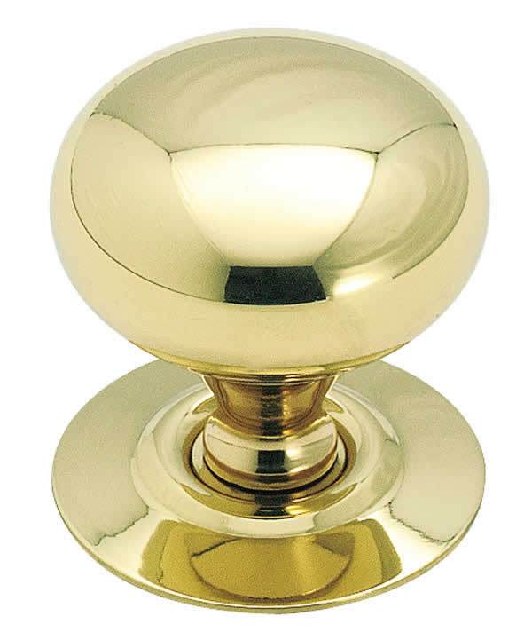 Allison AL543 - 1 1/4 Inch Solid Brass Cabinet Knob with Backplate