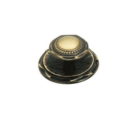 Amerock 2 Inch Antique Brass Accent Cabinet Knob w/Backplate