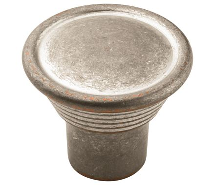 Amerock Vasari 1 3/16 Inch Cabinet Knob - Weathered Nickel Copper