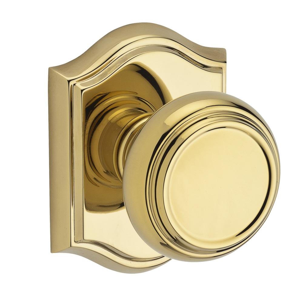Baldwin Reserve Traditional Knob Lifetime Polished Brass