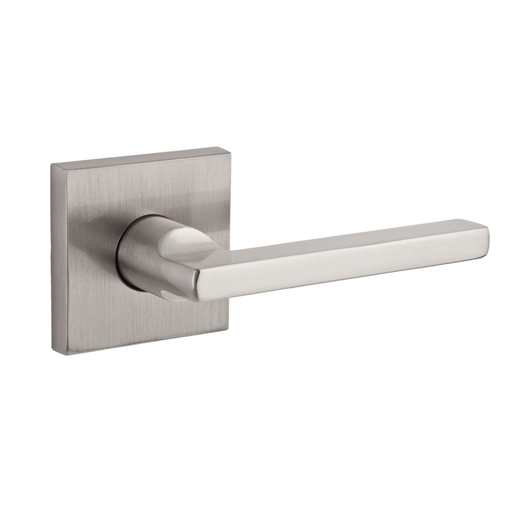Baldwin Reserve Square Lever Satin Nickel