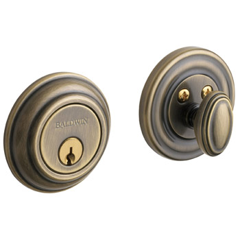 050 Classic Knob with Satin Brass and Black finish.
