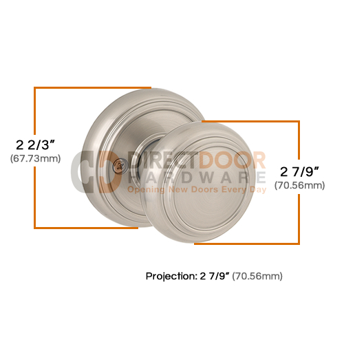 Baldwin Prestige Series Alcott Door Knob Measurements