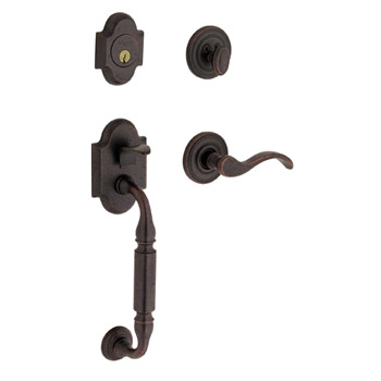 Baldwin Contemporary Knob with 402 Distressed Oil Rubbed Bronze. Adding detailing that brings age-worn dimensions to the lustrous texture of oil rubbed bronze.
