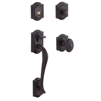 Baldwin Contemporary Knob with 412 Distressed Venetian Bronze. Distressed to accelerate the aging process while protecting the product integrity of oil rubbed bronze. This finish achives a look of antiquity that would otherwise take years to achieve.