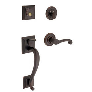 Baldwin Contemporary Knob with 102 Oil Rubbed Bronze. A finish that starts its long life with a matte black appearance blooms, with time and handling to reveal subtle bronze highlights that suggest they have been centuries in the making.