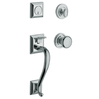Baldwin Contemporary Knob with 260 Polished Chrome. The integrity of solid brass plated in highly polished chrome for a stunning mirror smooth finish lends authenticity to modern retro designs and futuristic high tech settings.