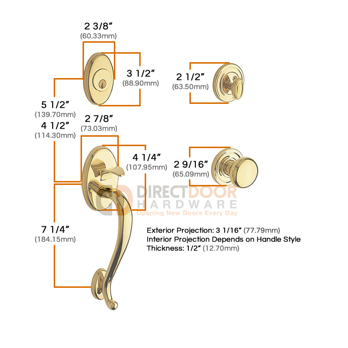 Baldwin Logan Handleset Measurements