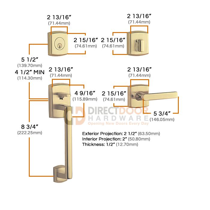 Emtek Baldwin Soho Sectional Handleset Measurements