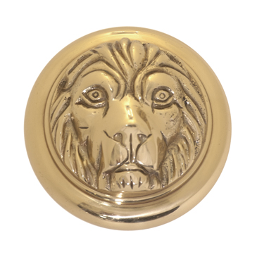 Brass Accents Lion Knob