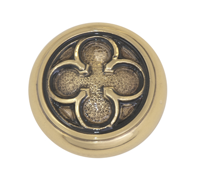 Brass Accents Oxford Knob