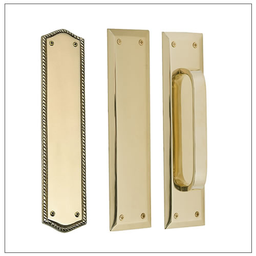 Superieur Push And Pull Plates By Brass Accents