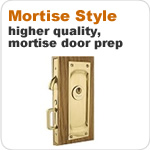 Mortise Style pocket door hardware