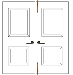 Surface Bolts Used on Double Doors
