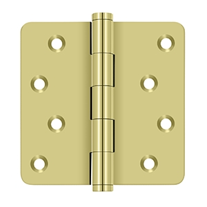Deltana 4 x 4 Inch Solid Brass 1/4