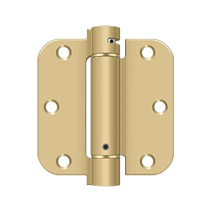 Deltana 3 1/2 x 3 1/2 Inch 5/8 Inch Radius Corner Single Action, Steel Spring Hinge - Each