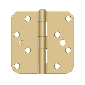 Deltana 4 x 4 Inch 5/8 Inch Radius Corner Bench Mark, Security Steel Hinge - Pair