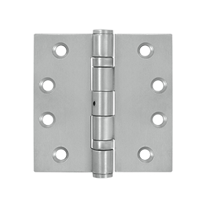 Deltana 4 x 4 Inch Stainless Steel Square Corner 2 Ball Bearing NRP Hinge - Pair