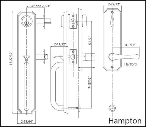 Hampton Handleset Specs