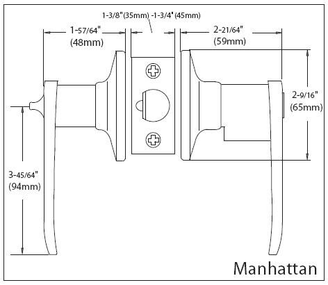 Manhattan Lever Specs