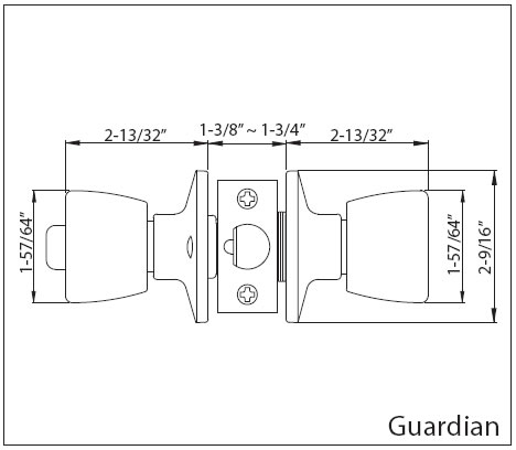 Guardian Doorknob Specs