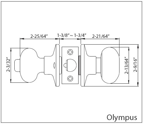 Olympus Doorknob Specs