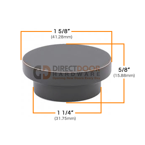 Emtek District 1 5/8 Inch Cabinet Knob Measurements