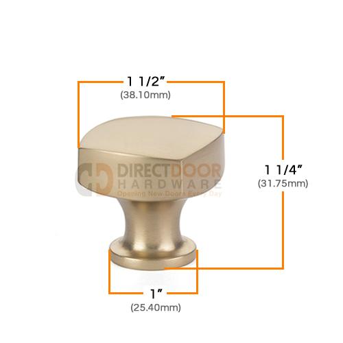 Emtek Freestone 1 1/2 Inch Cabinet Knob Measurements