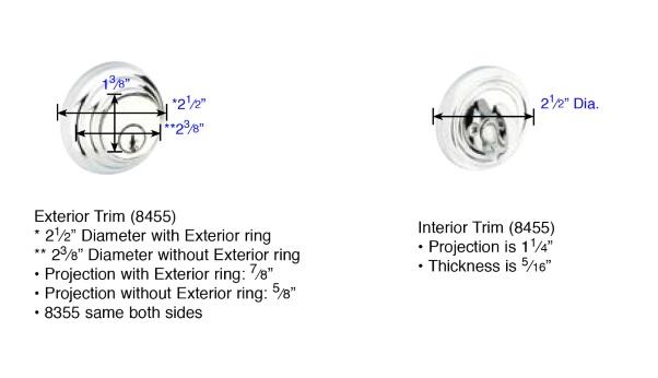 Emtek Low Profile Single Cylinder Deadbolt Measurements